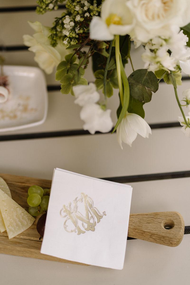 Personalized napkins wedding celebration Marbella Club