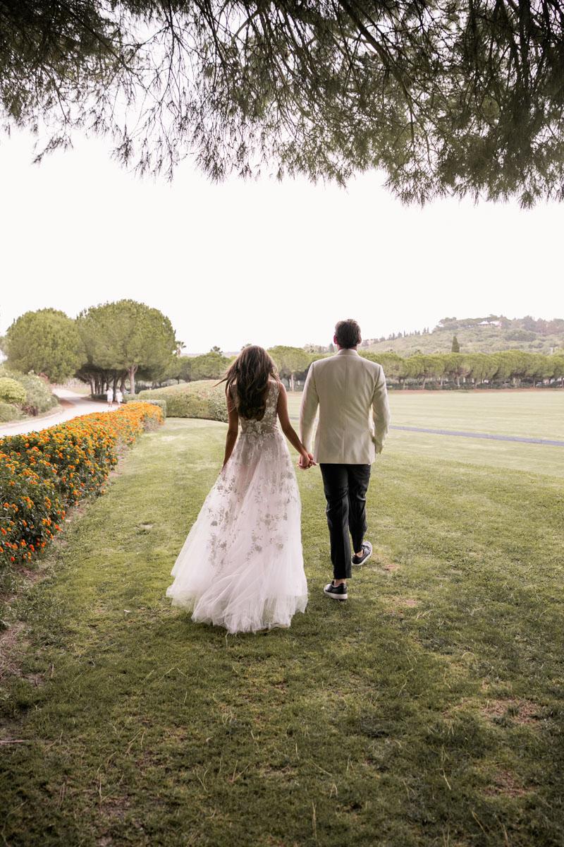 Bridal couple wedding Sotogrande Marbella