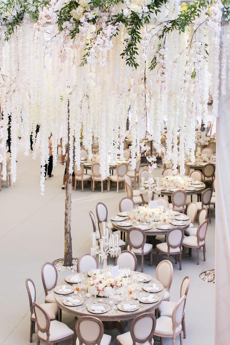 Table set up round tables wedding Marbella wedding flowers Anantara Villa Padierna