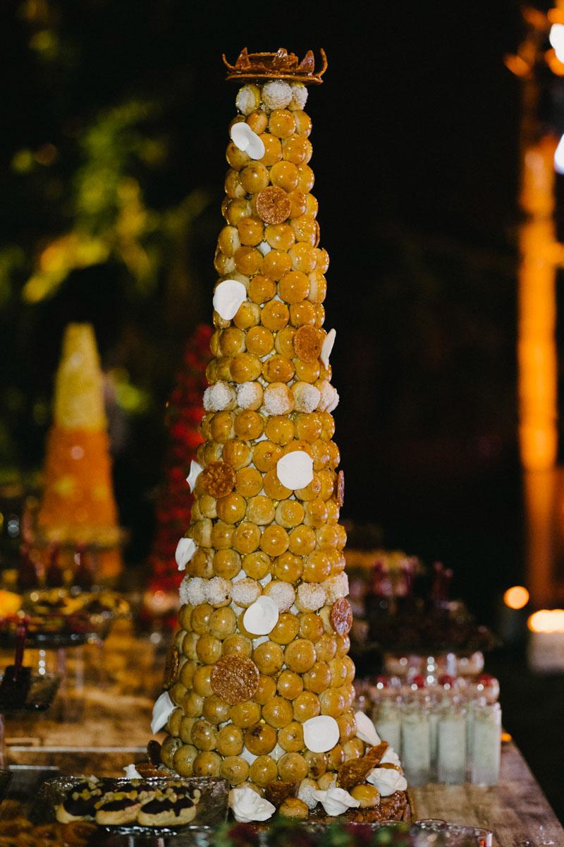 Profiterols cake wedding Marbella Goyo Catering