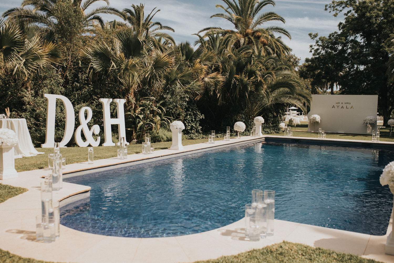 Pool area Finca La Concepcion wedding