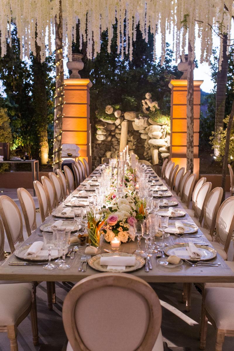 long table wedding night Anantara Villa Padierna