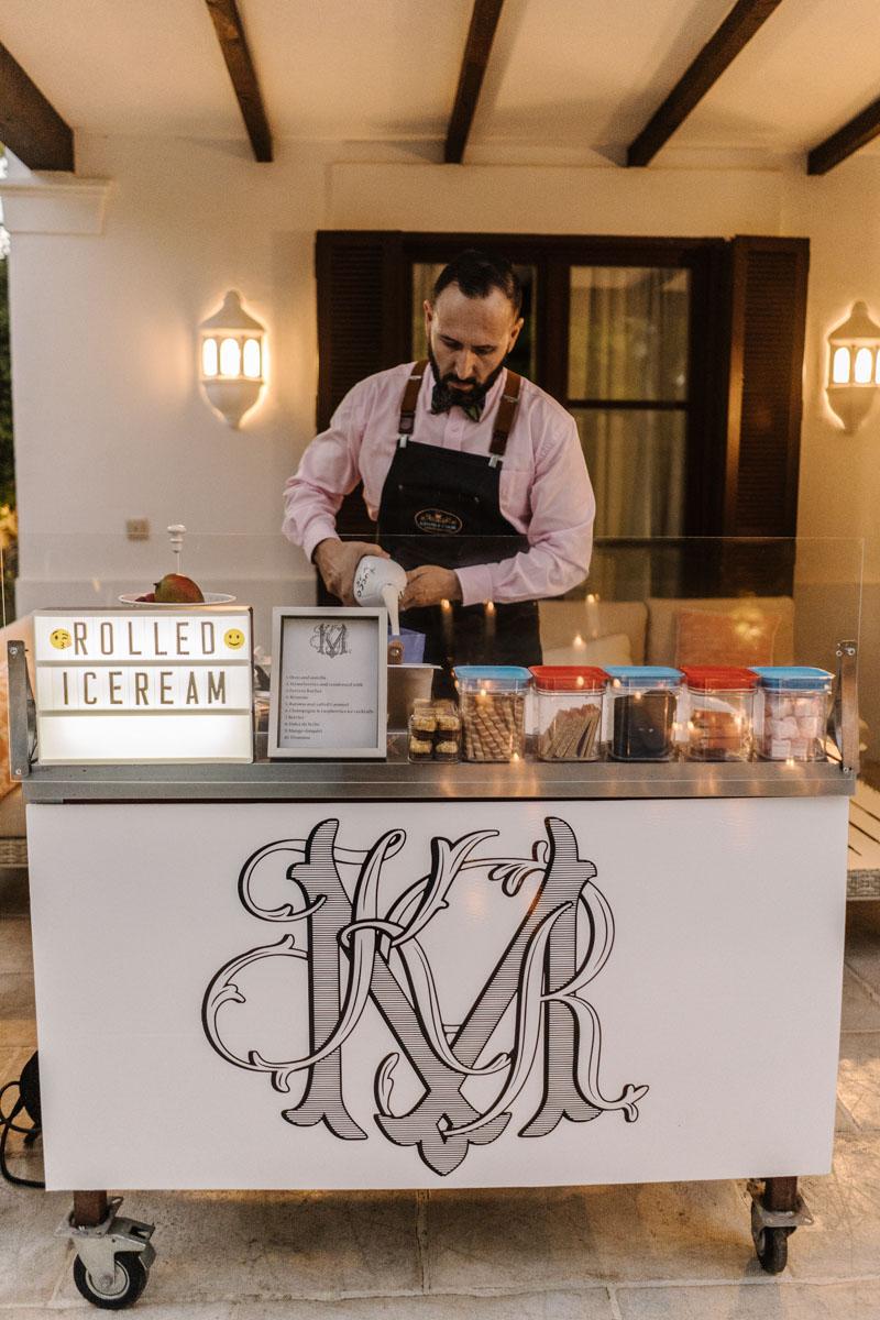 Rolled ice cream Marbella Club Hotel