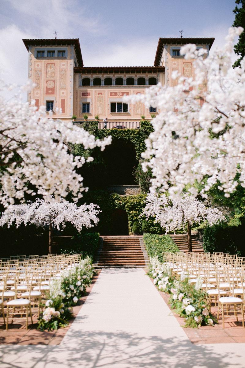 Almond tress wedding decoration Bell Reco Barcelona