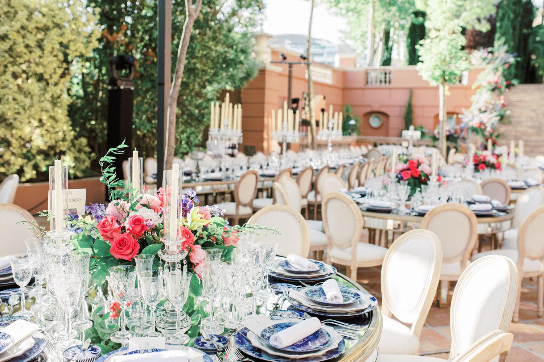 wedding set up linares terrace wedding Marbella Anantara Villa Padierna