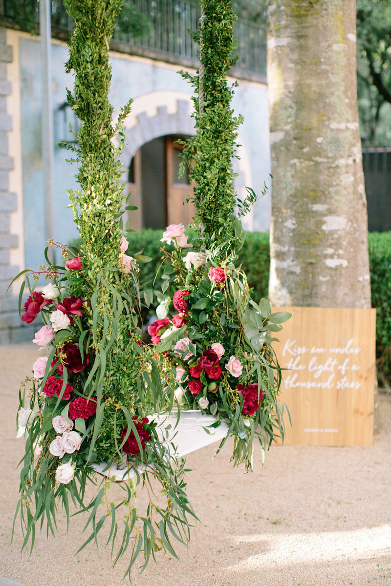 Swing with flowers wedding Bell Reco Barcelona