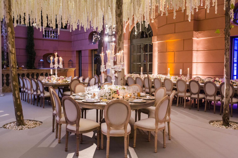 Wedding set up night lighting Marbella Anantara Villa Padierna