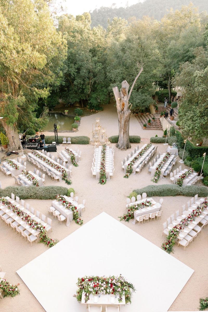 Table lay out wedding Barcelona Bell Reco