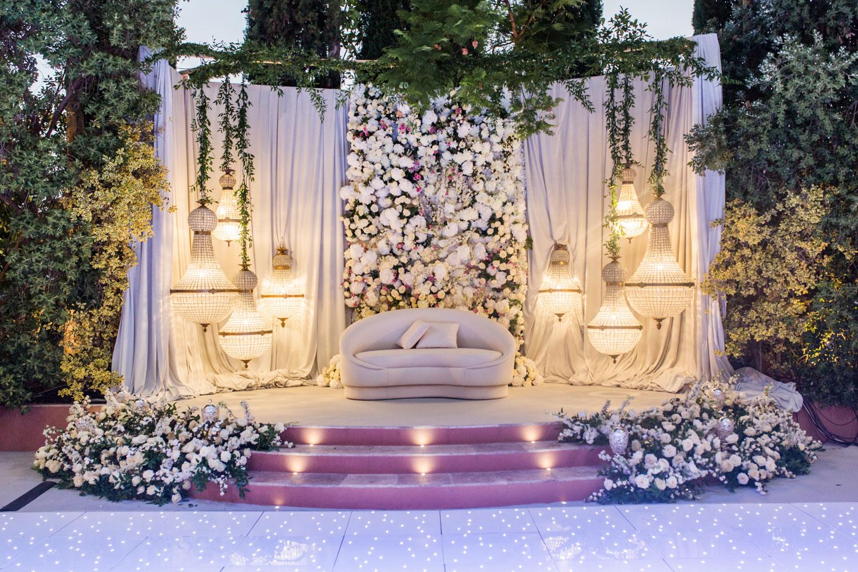 Kosha decoration night wedding Marbella lamps flowers Anantara Villa Padierna