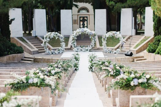 Wedding decoration ceremony Anantara Villa Padierna