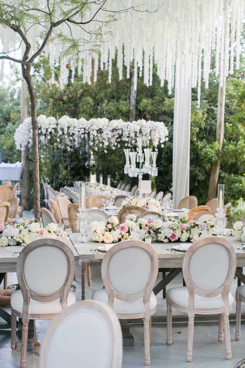 Table set up wedding marbella wedding flowers Anantara Villa Padierna