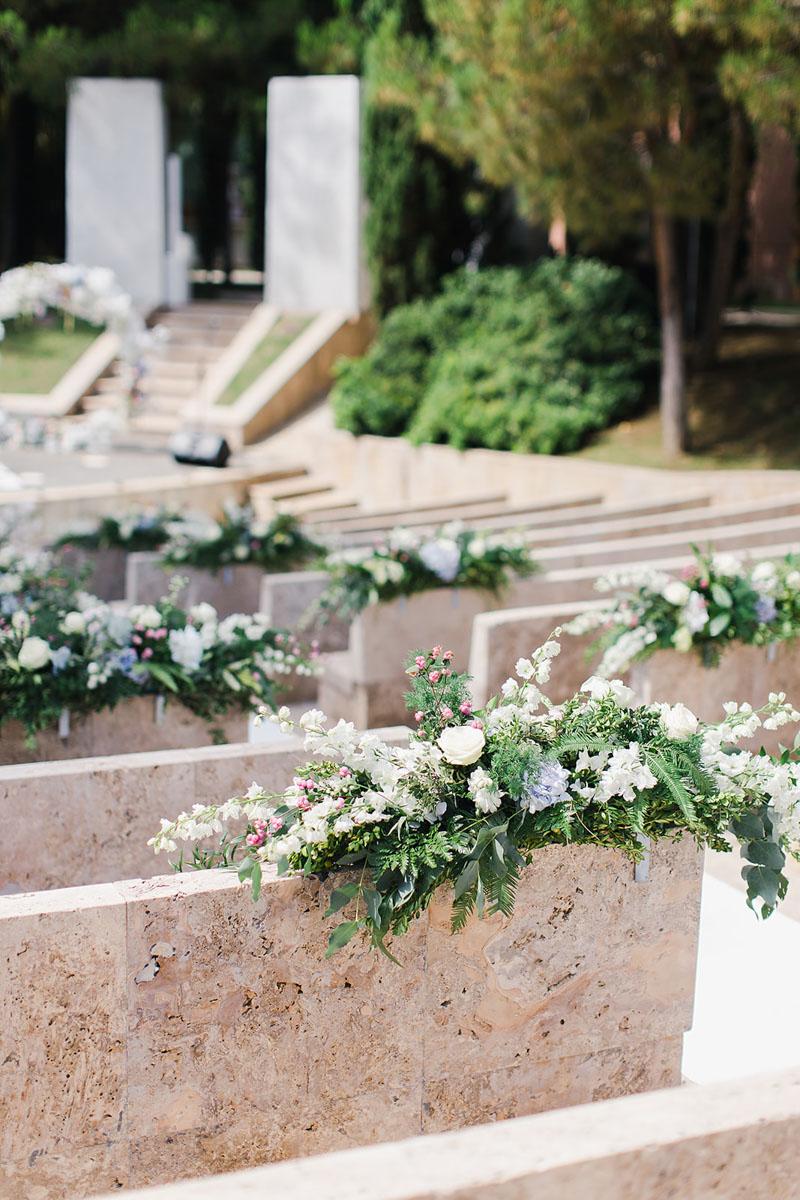 Ceremony decoration amphitheater Anantara Villa Padierna