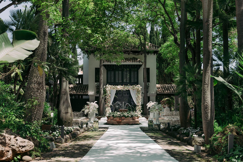 Ceremony decoration Villa Del Mar